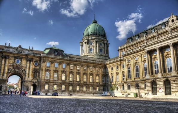 Картинка Архитектура, Венгрия, Hungary, Будапешт, Budapest, Architecture, Royal Palace, Buda castle, Будайская крепость