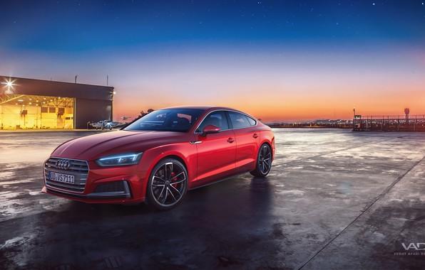 Картинка закат, вечер, 2018, Sportback, Audi S5, Vedat Afuzi Design