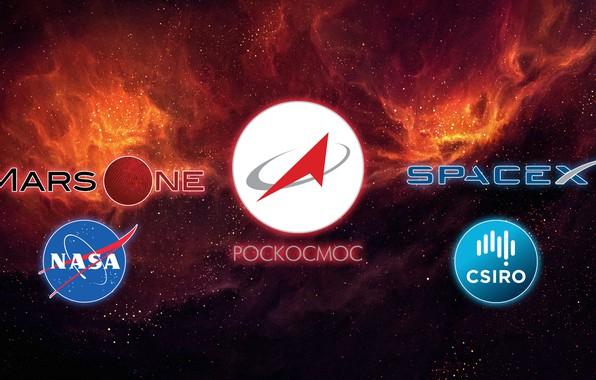 Картинка космос, Nasa, Роскосмос, mars one, space x