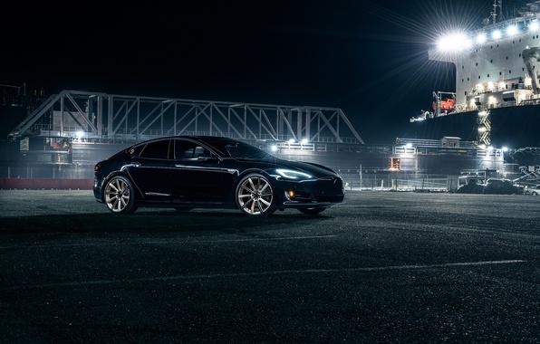 Картинка Car, Front, Tesla, Model S, Electric, P90D