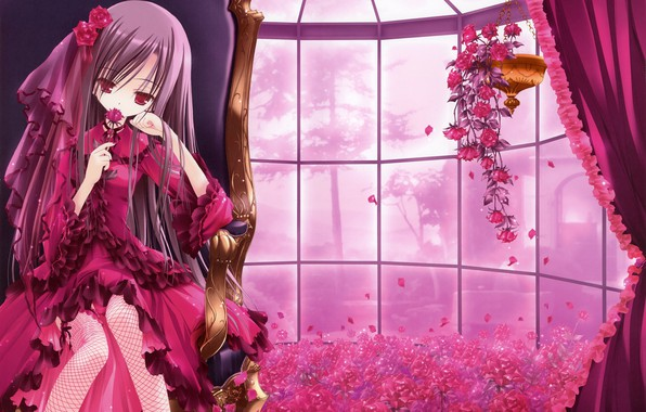 Картинка цветы, комната, арт, девочка, tinkle
