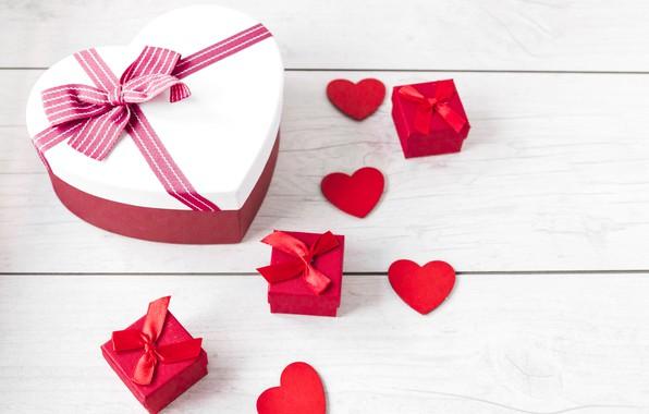 Картинка Любовь, Сердечки, Праздник, день влюбленных, День святого Валентина, Подарок