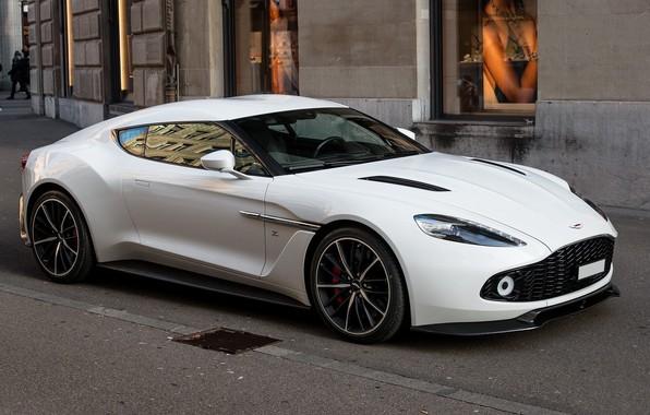 Картинка Aston Martin, White, Street, Zagato, Vanquish