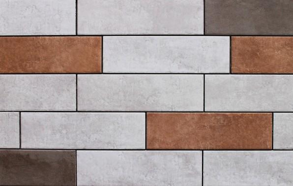 Картинка макро, фон, стена, камень, Плитка, прямоугольная плитка, керамическая плитка, плитка разных цветов, разноцветная плитка
