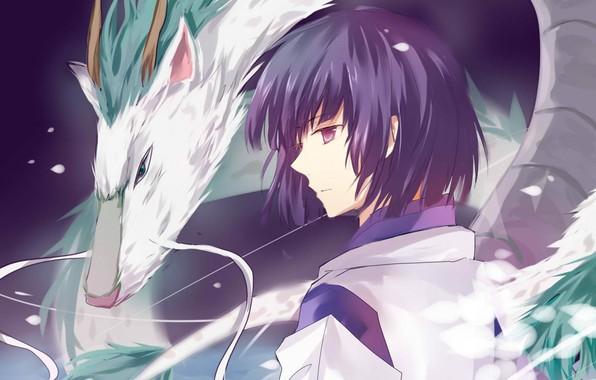 Картинка усы, мальчик, профиль, spirited away, унесенные призраками, haku, белый дракон, магия воды