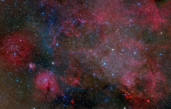 Картинка космос, звезды, туманность, астрономия, звездное небо, астрофото
