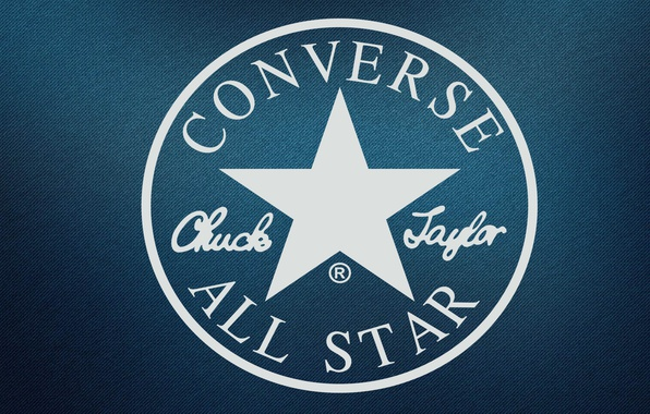 Картинка белый, синий, звезда, круг, логотип, лого, logo, синий фон, джинс, jeans, Кеды, Фирма, converse, Знаменитая, …