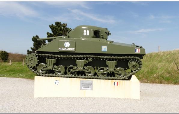 Картинка normandy, sherman tank, ww2 tank, utha beach