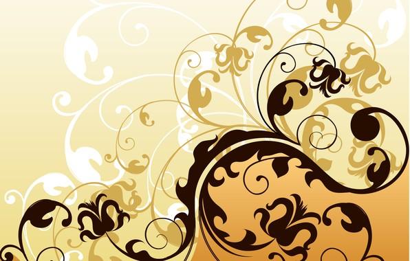 Картинка цветы, текстура, листочки, Abstract, design, background
