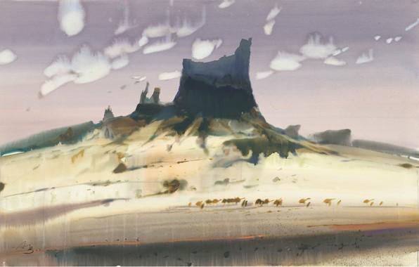Картинка пустыня, Караван, Аруш Воцмуш