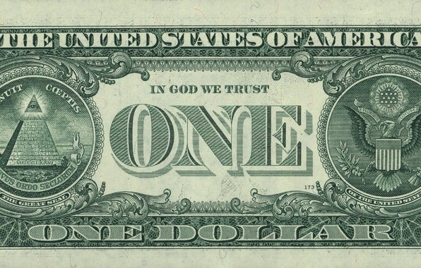 Картинка зелень, макро, жизнь, глаз, green, орел, деньги, доллар, пирамида, Орел, USA, США, Eagle, идеи, close-up, ...