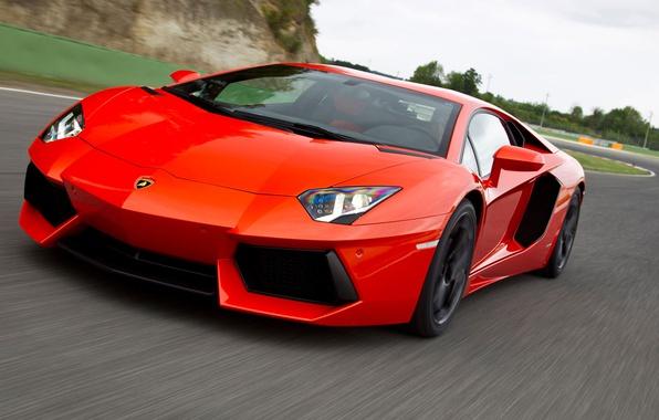 Фото обои дорога, Lamborghini, Aventador, LP700