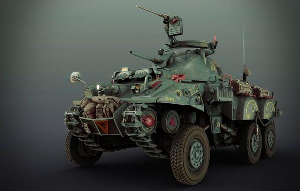 Картинка оружие, транспорт, автомобиль, SCI-FI WW2 ALLIED RECON VEHICLE