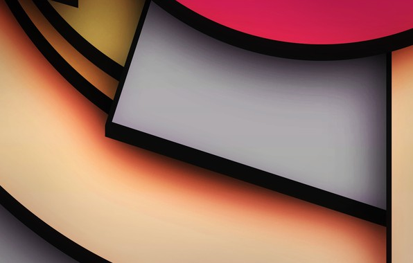 Картинка линии, краски, угол, объем, слой