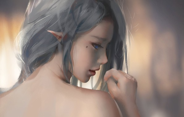 Картинка kawaii, girl, beautiful, pretty, elf, skin, bishojo