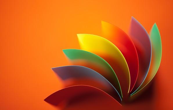 Картинка абстракция, фон, радуга, abstract, Rainbow, background, колор, colored, wavy