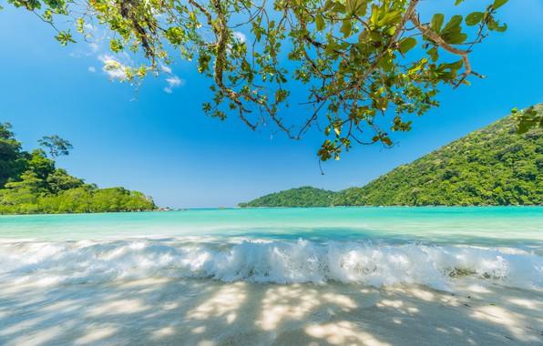 Картинка Природа, Море, Пляж, Тропики, Отдых, Голубая вода