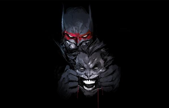 Картинка Batman, Joker, bat, hero, DC Comics, yuusha