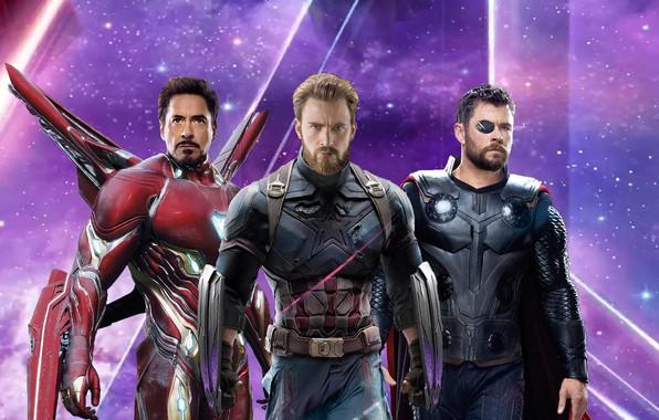 Картинка фантастика, постер, Iron Man, комикс, костюмы, Captain America, супергерои, Thor, MARVEL, Avengers: Infinity War, Мстители: …