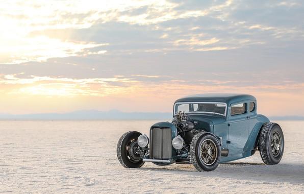 Картинка car, Roadster, Ford, desert, nature