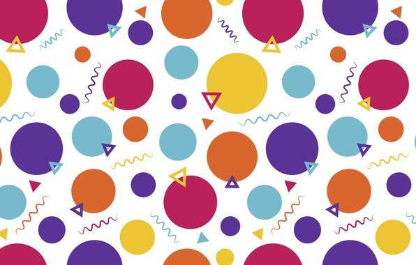 Картинка фиолетовый, круги, оранжевый, абстракция, жёлтый, фон, голубой