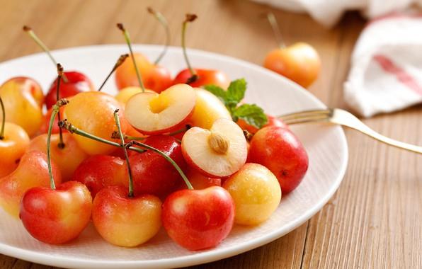 Картинка ягода, черешня, спелая, вкусная