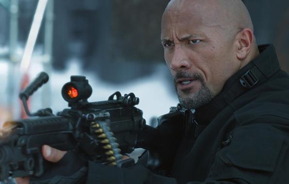 Картинка cinema, gun, weapon, The Rock, Dwayne Johnson, film, Luke Hobbs, Dwayne Douglas Johnson, Fast And ...