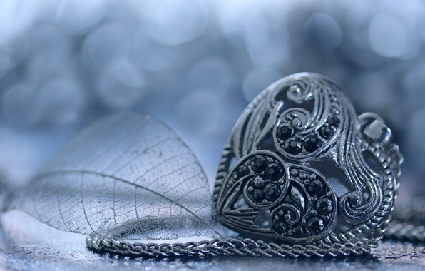 Картинка сердце, кулон, украшение, камешки