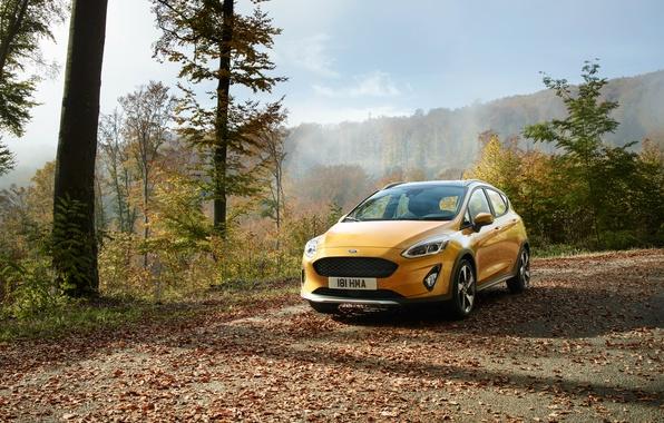 Картинка Ford, Желтый, Автомобиль, Fiesta, Active, 2017, Worldwide