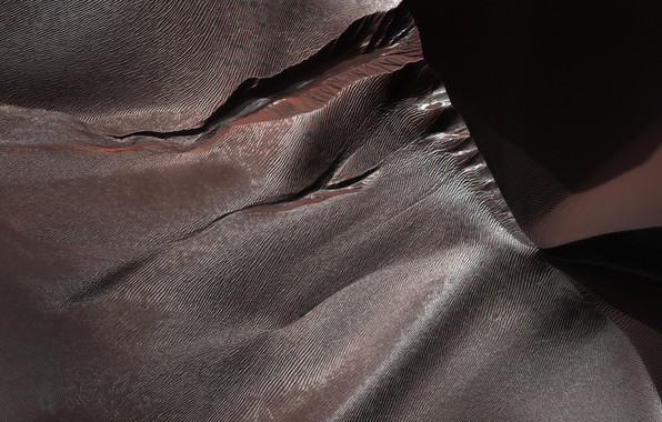 Картинка кратер, Марс, песчанные дюны
