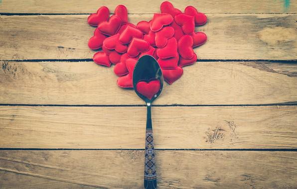 Картинка любовь, сердце, ложка, сердечки, love, heart, wood, romantic, Valentine's Day