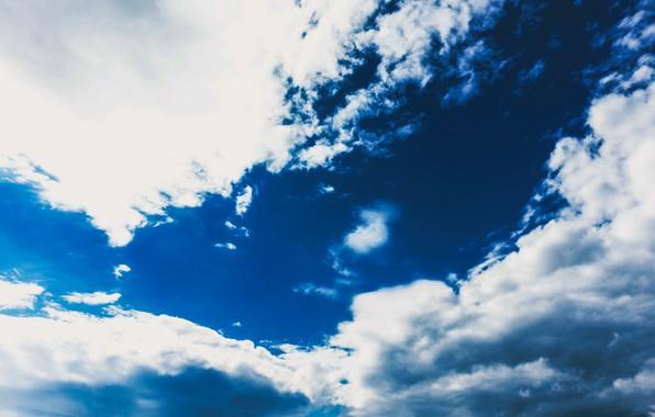 Картинка небо, облака, синий, sky, clouds