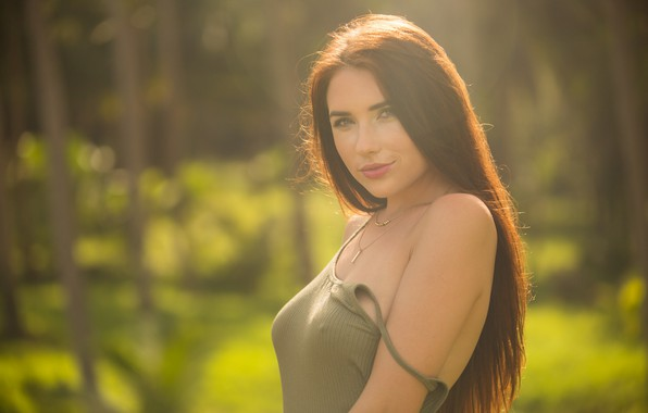 Картинка лес, девушка, волосы, Niemira