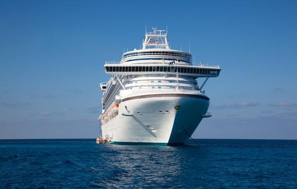 Фото обои море, корабль, круизный лайнер