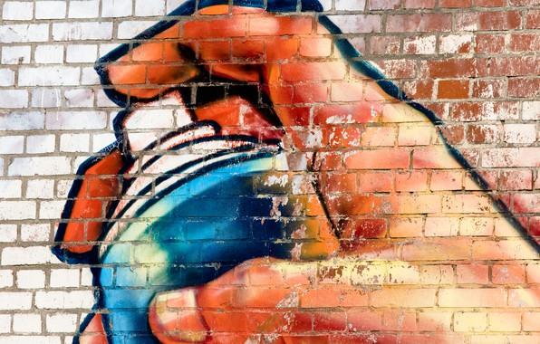 Картинка поверхность, стена, граффити, краска, текстура, graffiti, баллончик, кирпичная, wallpaper., street art, beautiful background, красивый фон, …