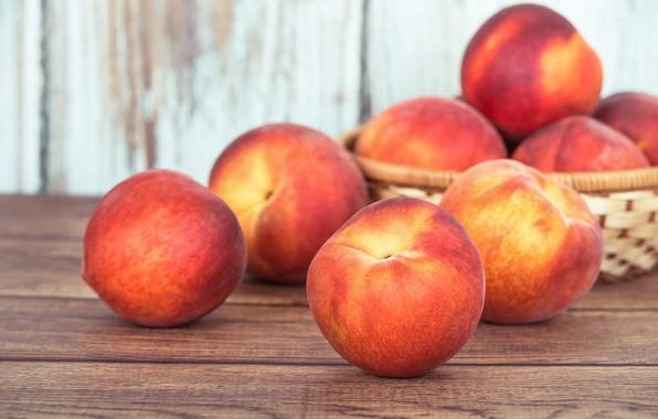 Картинка фрукт, персик, карзинка
