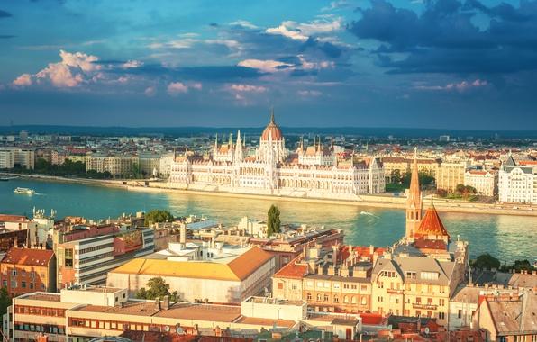 Картинка лето, город, размытость, боке, ясный день, красивый вид, Венгрия, Hungary, Будапешт, travel, Budapest, wallpaper., здание …