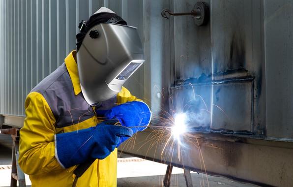 Картинка man, mask, protective equipment, welder