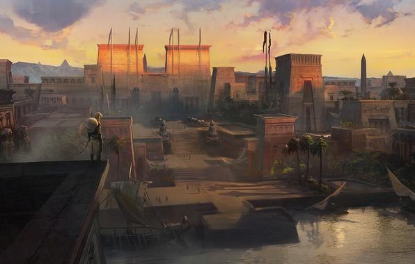 Картинка город, египет, ассасин, Assassin's creed origin