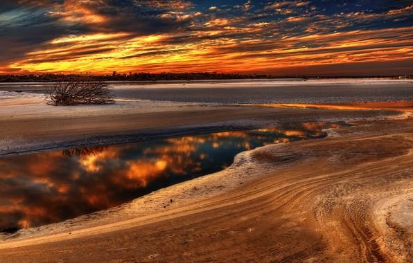 Картинка закат, природа, Florida, St Augustine