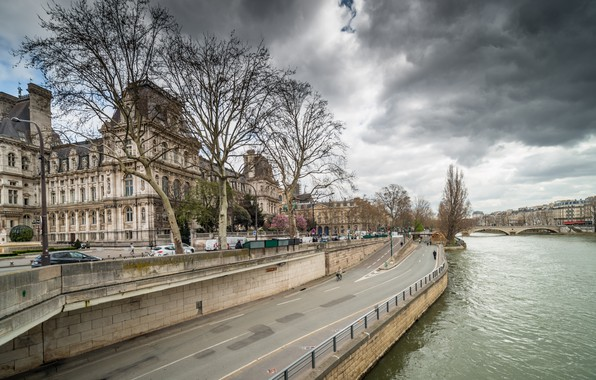 Картинка Франция, Париж, Мост, Paris, Bridge, France, Town