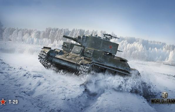 Картинка WoT, World of Tanks, советский танк, Wargaming, Т-29