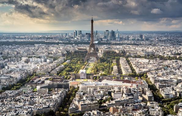 Картинка город, Paris, Eiffel Tower