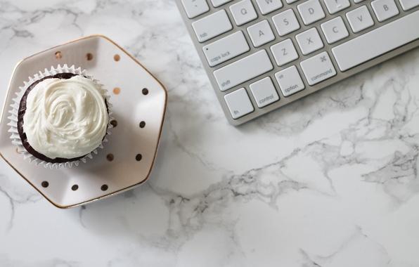 Картинка клавиатура, cupcake, кекс, keyboard, marble