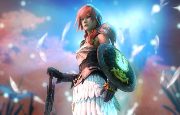 Картинка девушка, меч, щит, Final Fantasy XIII, Lightning, Claire Farron