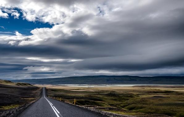 Картинка дорога, небо, даль