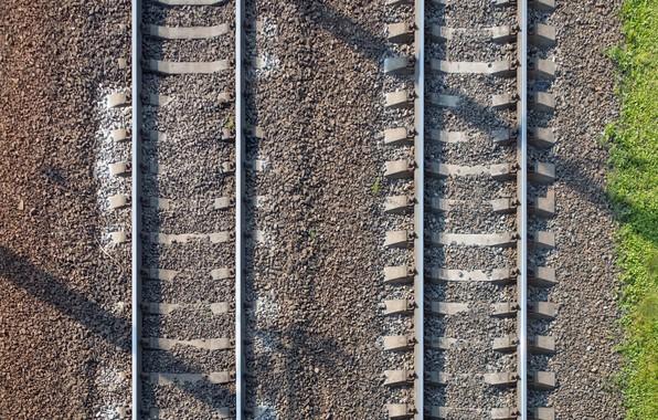 Картинка фон, рельсы, железная дорога