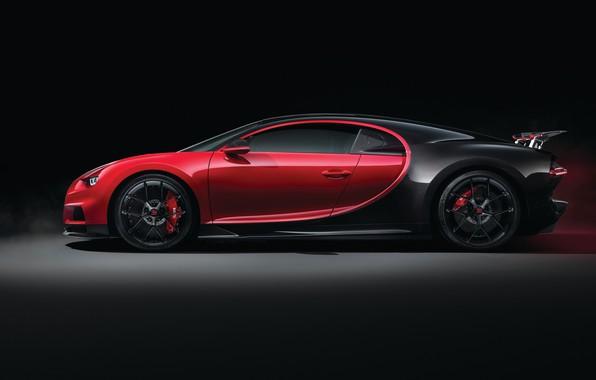 Фото обои Sport, Bugatti, вид сбоку, 2018, Chiron