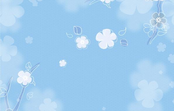 Картинка цветы, фон, текстура, винтаж, голубой фон