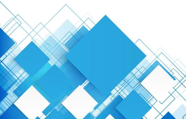 Картинка абстракция, vector, abstract, геометрия, blue, background, squares